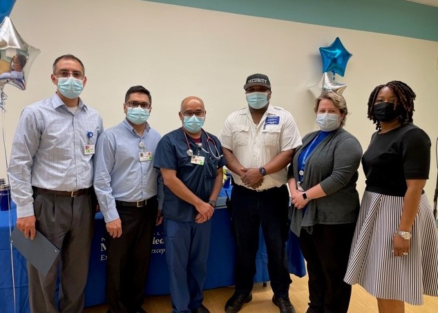 Recipients of Niagara Falls Memorial Medical Center's employee recognition event, from left: Dr. Rajinder Bajwa, Dr. Milind Chaudhari, Dr. Zubair Shaikh, Rasheed Rivers, Michelle Lewis and Alicia Scott. Those not pictured include Dr. John Blundell, Dr. Niels Gothgen, Dr. Ryan Mikac, Melissa Owens and Erin DeMarco.