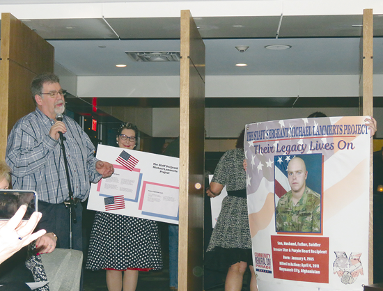 Kenny Tompkins presents the `Staff Sergeant Michael Lammerts Project` at Pints for Progress.