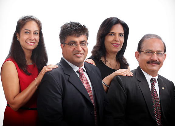 Pictured, from left: Dr. Deepa Sharma, Dr. Sachin Wadhawan, Dr. Sunita Chadha and Sanjay Chadha.