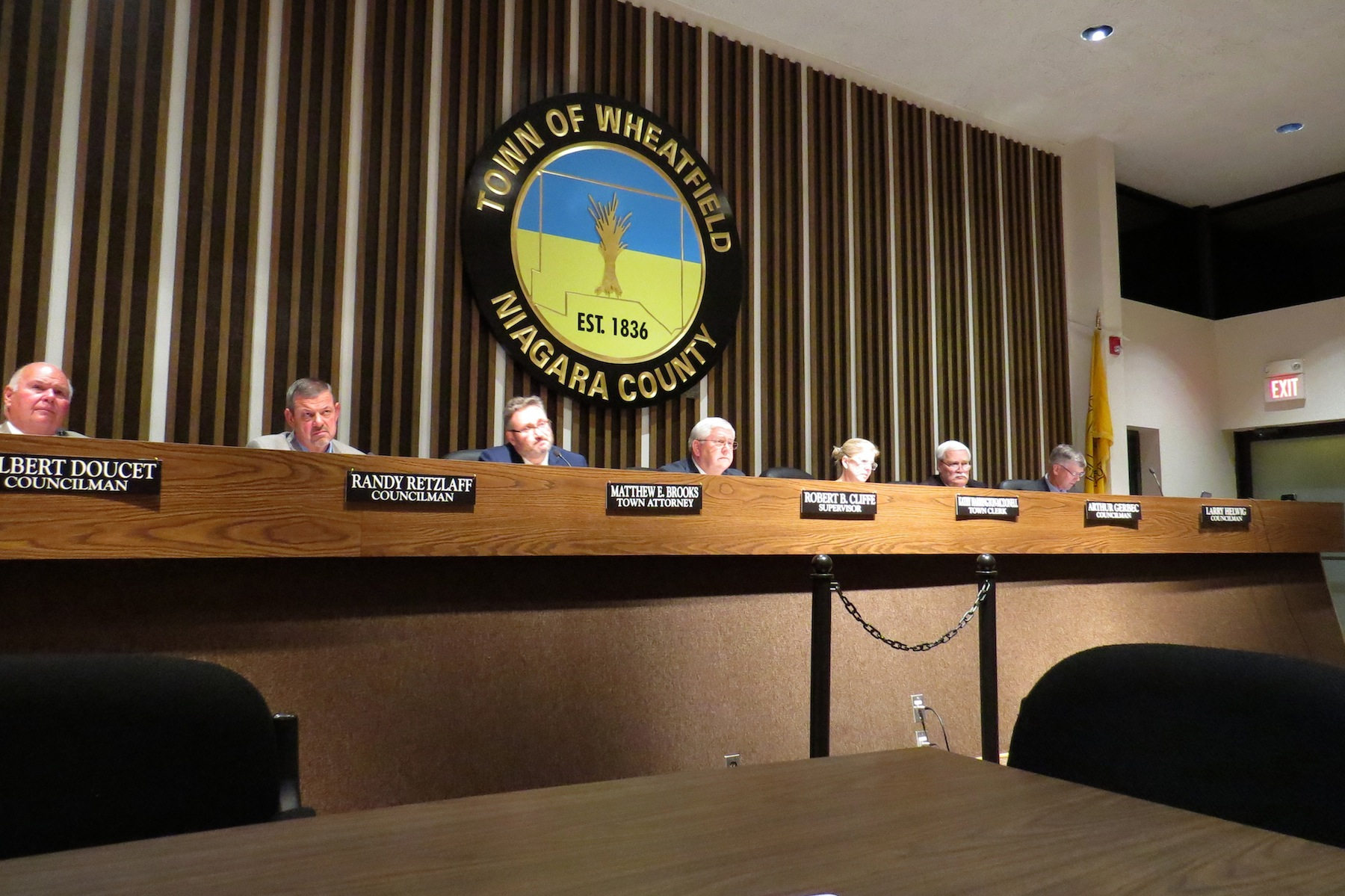 The Wheatfield Town Board. (Photo by David Yarger)