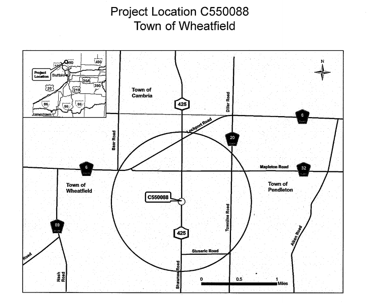 Pictured is a map with the location of the Shawnee Road culvert replacement. Town Board members did voice concerns about truck traffic disobeying the noted truck detour and possibly using the non-commercial detour down Slusaric Road instead.