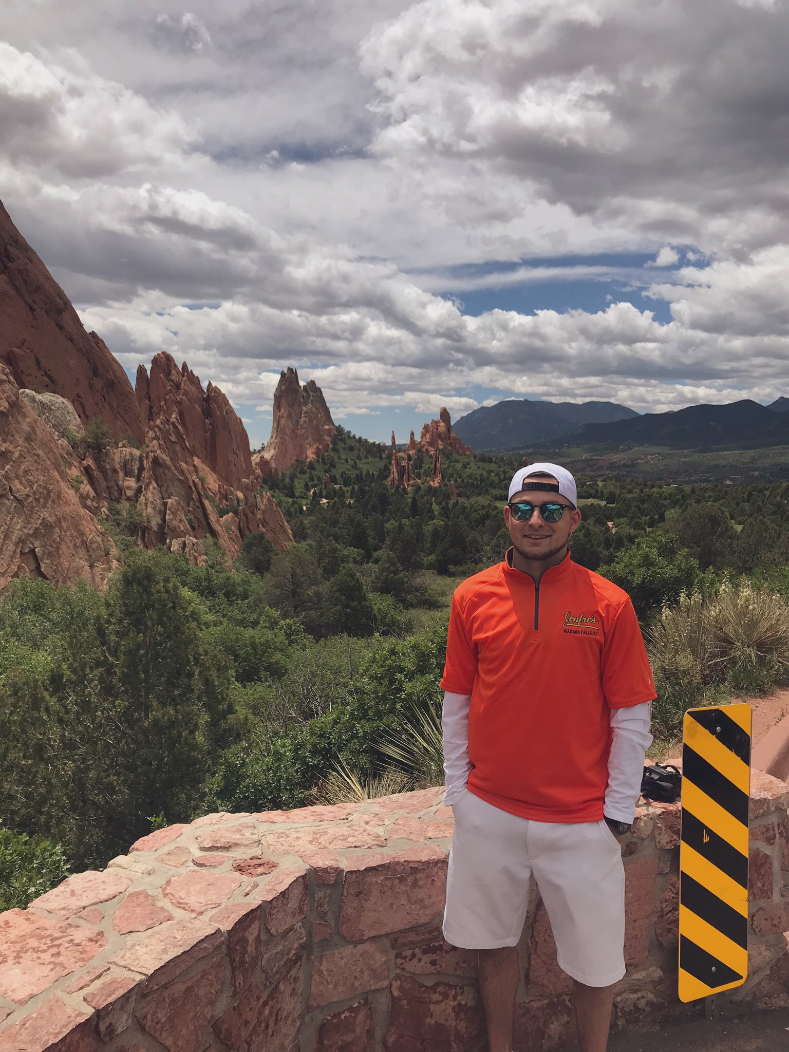 Tribune Editor David Yarger poses at the Garden of the Gods.