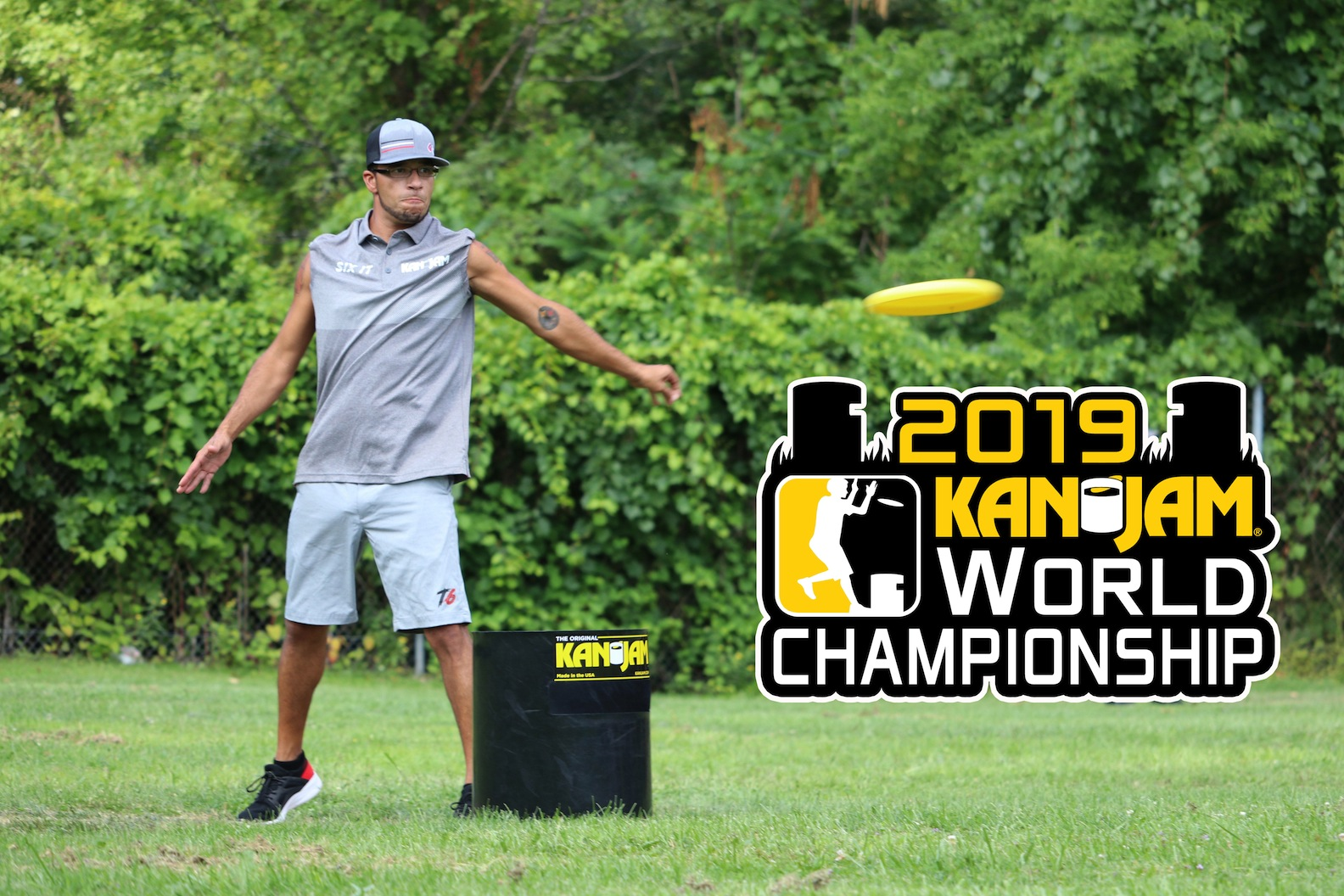 Rochester KanJam player Sam Caquias. Here, Caquias throws the disc in a playoff game for `Team 6 it` at last year's KanJam World Championship.