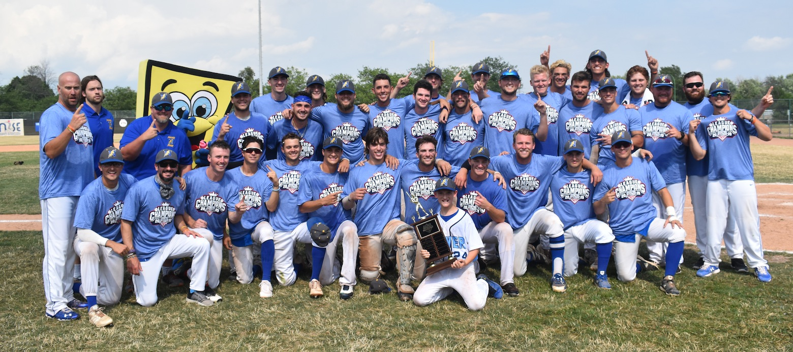Pictured, above, is the Niagara Power following a 12-6 win over the Cortland Crush in the NYCBL championship. (Photo by Kyle Barker)