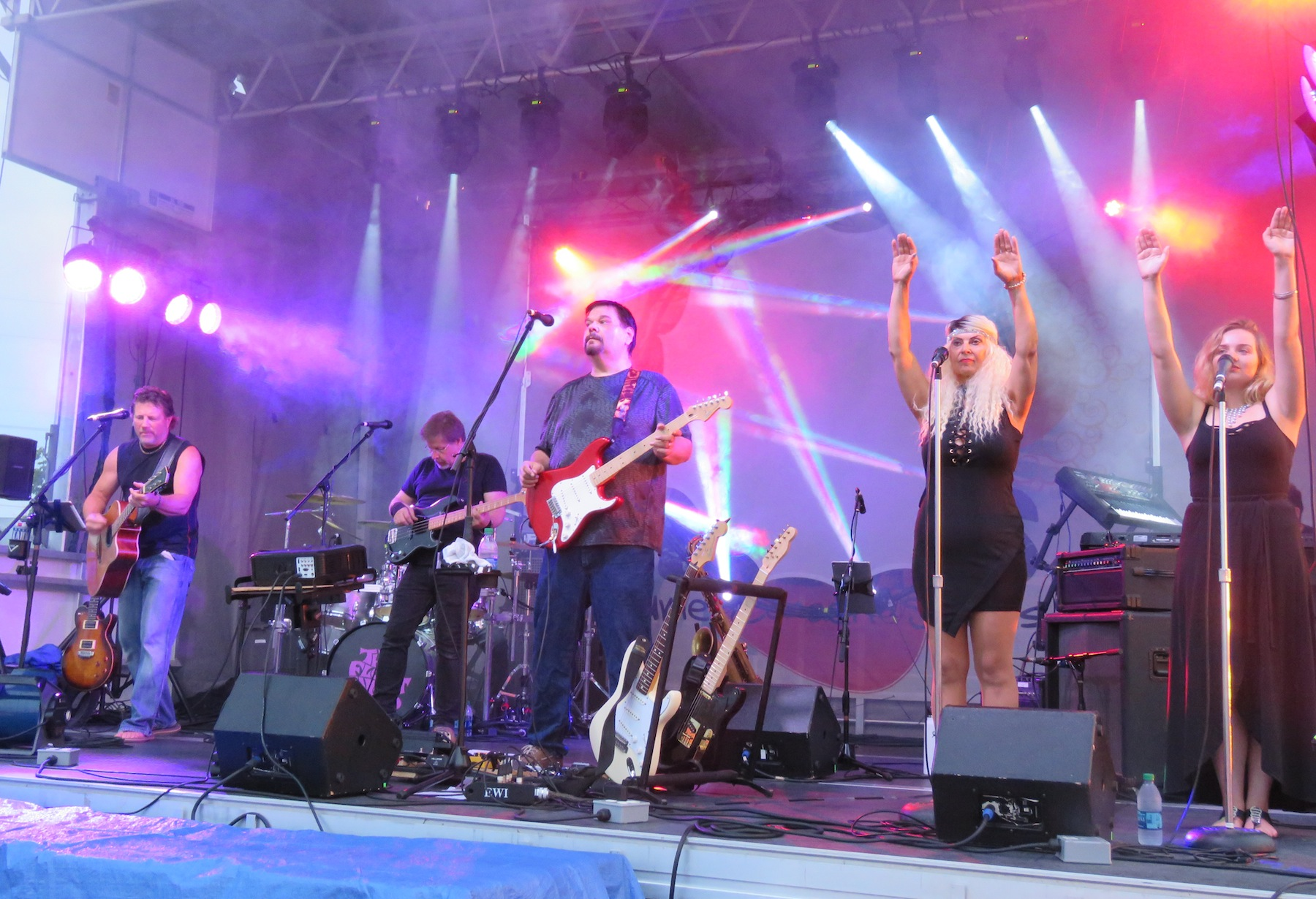 Floyd Concept took the stage Monday night in the Town of Niagara. (Photos by David Yarger)