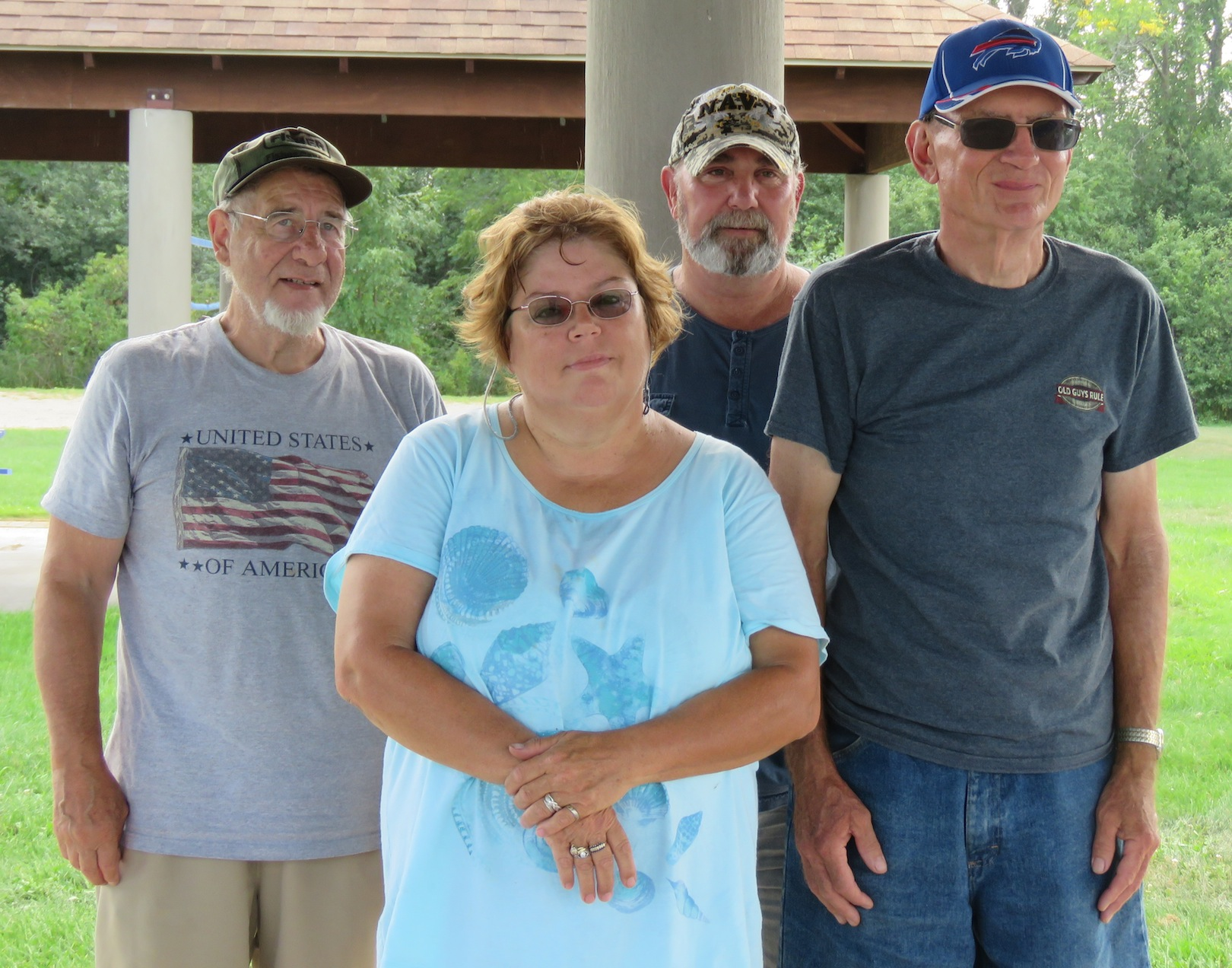 From left, some of the prize winners at the Senior Fishing Derby - Cleon Canon, Charlotte Lachant, Lou Pastor, Bruce Herman. (All photos by David Yarger)