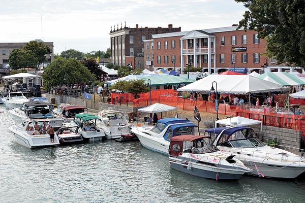 Shown is a view of the shore of North Tonawanda during last year's Canal Fest.