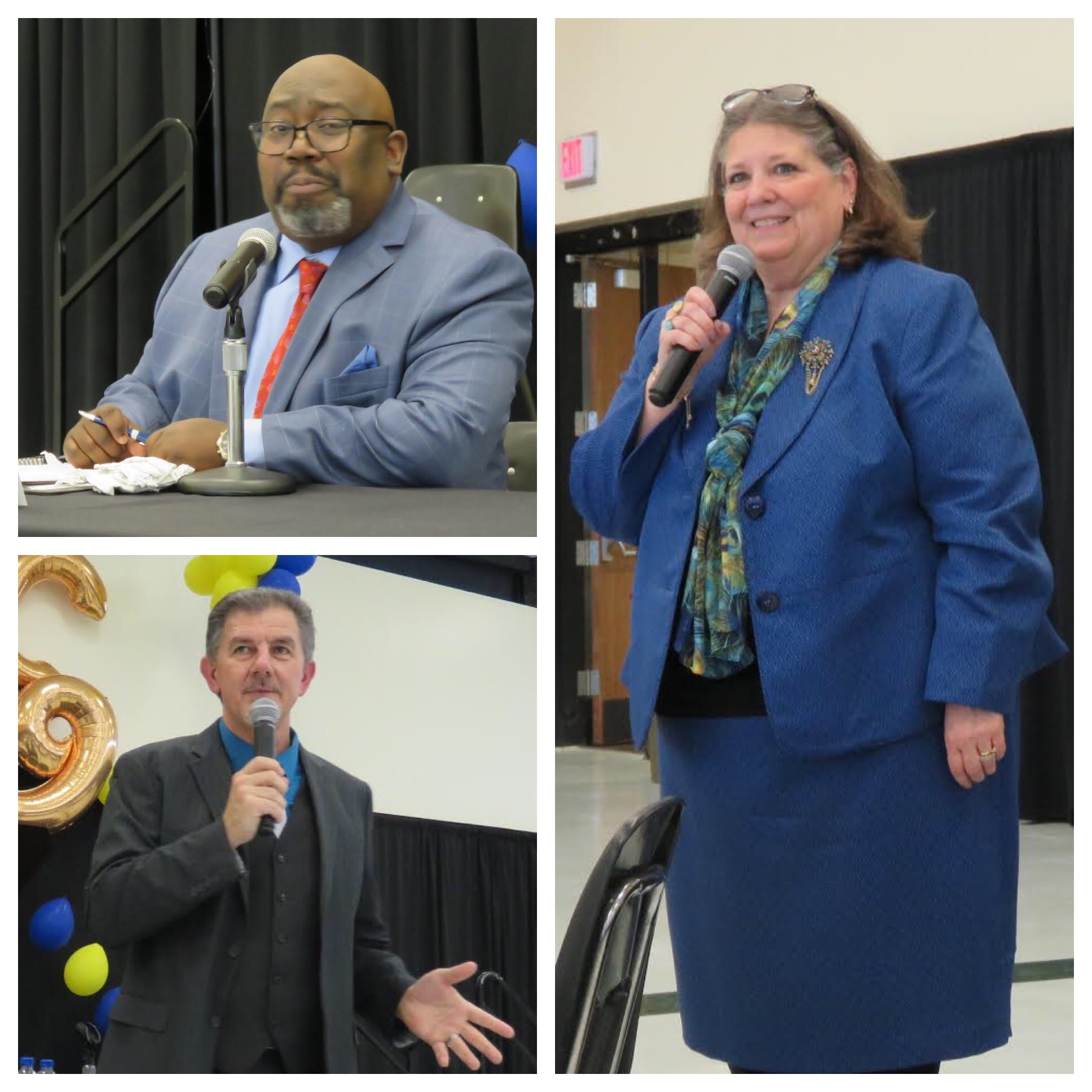 From top left, clockwise, Dr. Darrin Q. Rankin, Dr. Lori Quigley, and Dr. Stephen Dunnivant. (Photos by David Yarger)