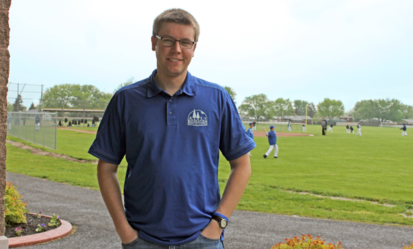 Town of Niagara Recreation Director Jonathan Haseley, on site at the Calvin K. Richards Community Center in Veterans Memorial Community Park, is coordinating volunteer participation in the June 3 townwide cleanup event, titled `Neaten Up Niagara.` (Photo by Karen Keefe)