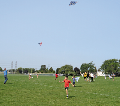 Pictured is a scene from the 20th annual `Kidz 'N' Kites` festivities. (Photo by David Yarger)