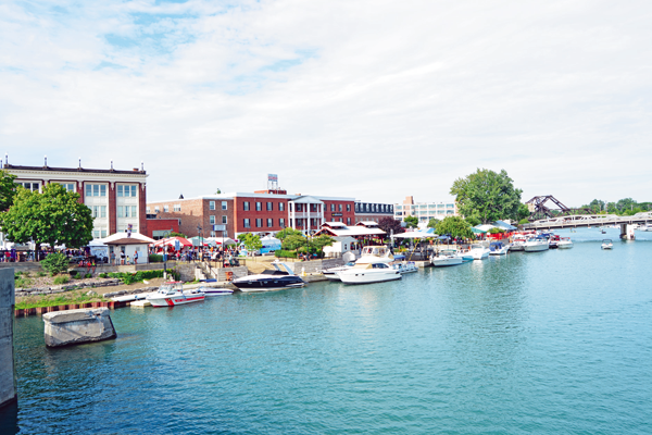 Shown is a view of the bustling Gateway Harbor last summer.