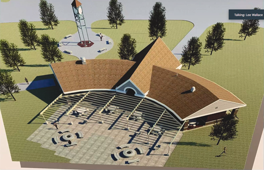 The Town of Niagara has grand plans for Veterans Memorial Park. (Greenway meeting screen grab)
