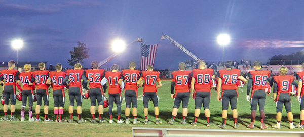 An image from last year's night football game at Niagara-Wheatfield High School. (Photo by David Yarger)
