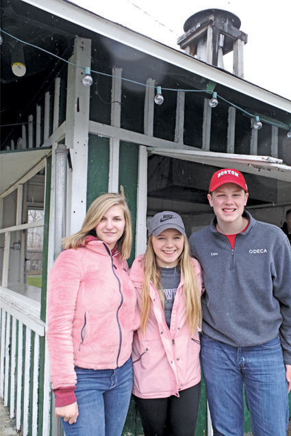 Lauren Merletti, Gabby Bergstrom and Luke Hess are operating a new eatery, Casey's Cabana, in Ferry Village. (Photo by Larry Austin)