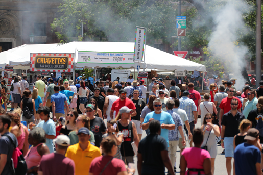 A hungry crowd took over Niagara Square at the 2019 Taste of Buffalo. (Image courtesy of Erin Collins/Taste of Buffalo)