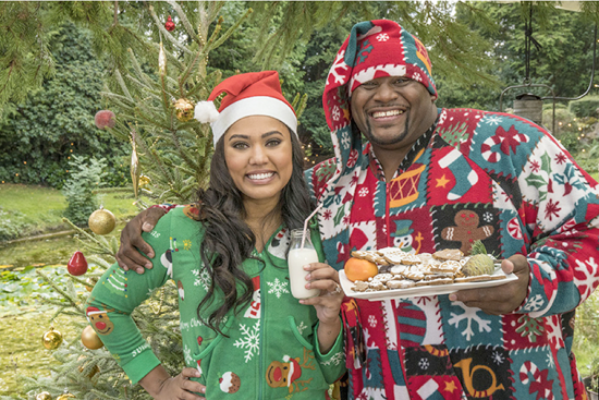 Anthony `Spice` Adams and Ayesha Curry in `The Great American Baking Show.` (Photo credit: ABC/Mark Bourdillon)