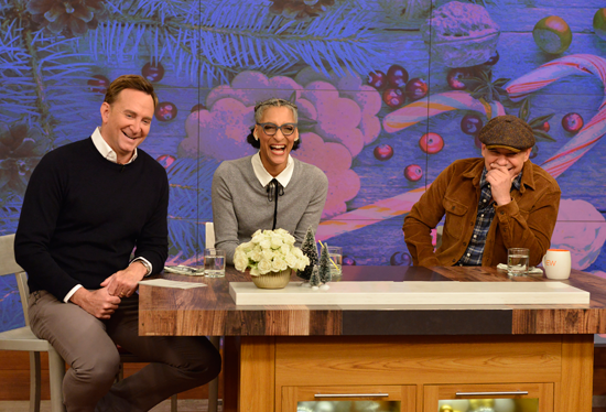 Clinton Kelly, Carla Hall and Michael Symon on `The Chew.` (ABC photo by Pawel Kaminski)