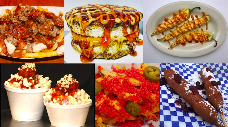 Some of the new food items on display. (Images courtesy of the Erie County Fair)