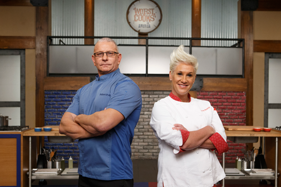 Chef Robert Irvine returns to battle chef Anne Burrell in `Worst Cooks in America.` (Food Network photo)
