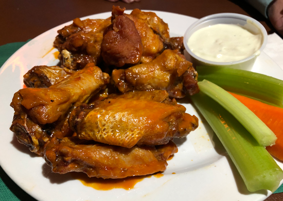 The Isle View Bar & Grill's award-winning chicken wings.
