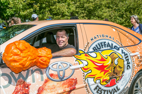 `Wing King` Drew Cerza (Photo courtesy of Cerza/The National Buffalo Wing Festival)