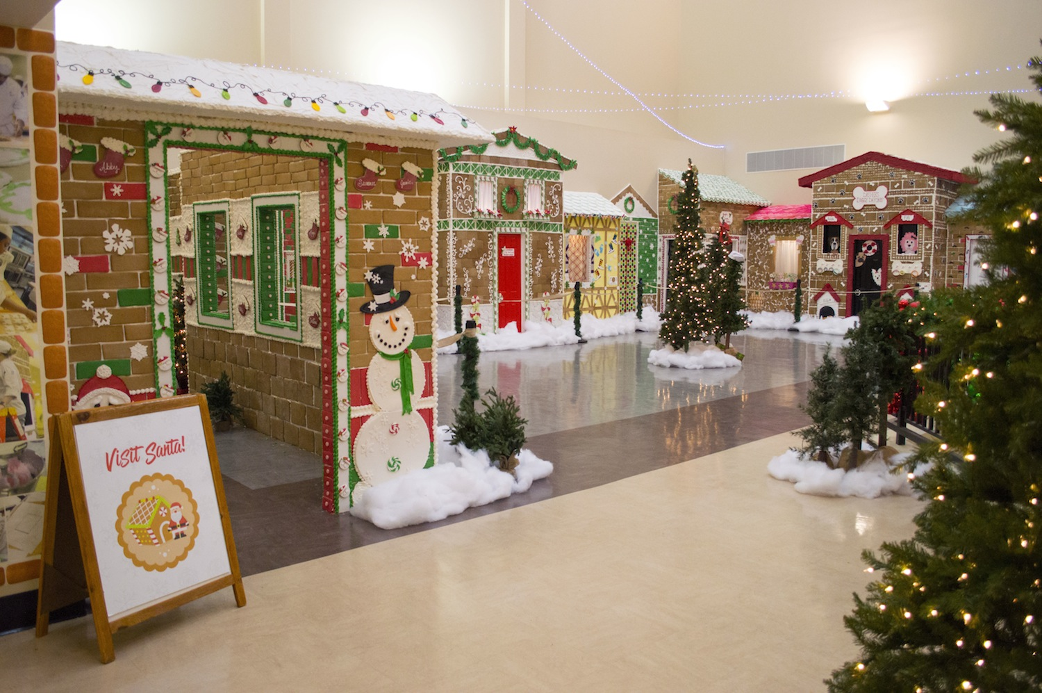 Life-sized gingerbread village at the Niagara Falls Culinary Institute.