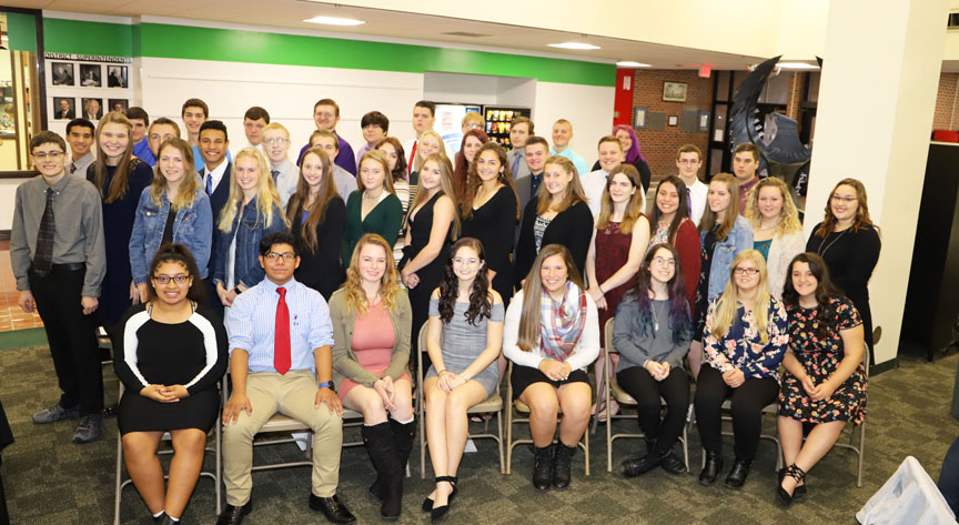 Group shot of all the National Technical Honors Society students (Missing is Michael Dalton).