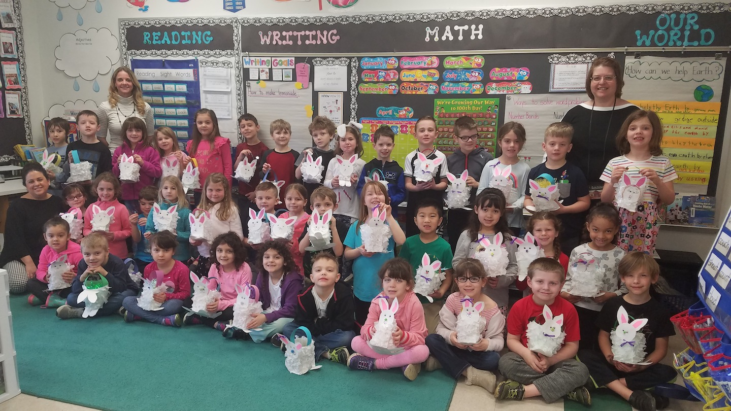 Students from Fricano Primary School are pictured with their Easter Bunny creations. (Submitted photo)
