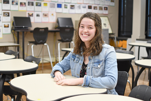 Pictured is Delaney Adams, a Lockport High School senior and NCCC CAP student. (NCCC photo)