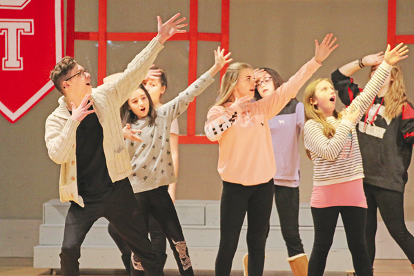 Edward Town Middle School students begin rehearsing for `High School Musical Jr.` The play begins Jan. 26 and runs through Jan. 28.