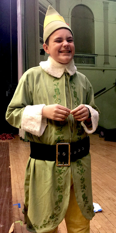 It's Buddy the Elf! (Lewiston-Porter eighth-grade student Dominic Townsend.)