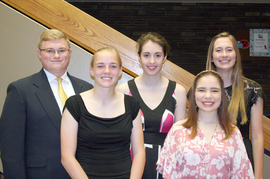 Distinguished Student Scholarship recipients will be recognized at the annual NCCC Foundation Scholarship Gala on Saturday, Oct. 20, at the Niagara Falls Culinary Institute. Honorees include, from left: William Briggs of Lockport, Morgan Sczcepaniak of Barker, Hannah Craig of North Tonawanda, Piper Moffitt of Barker and Madeline Keyes of Royalton-Hartland.