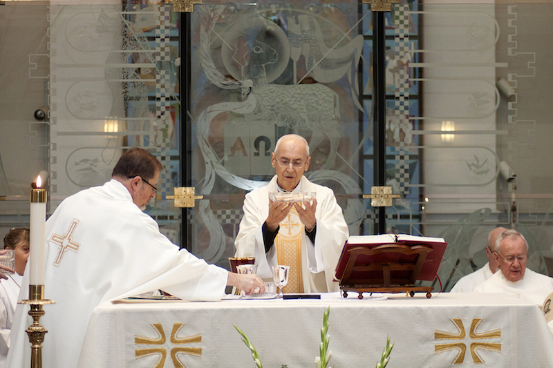 The Rev. Joseph L. Levesque, C.M., celebrates Mass.