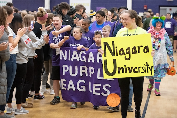 Niagara University Special Olympics opening ceremonies. (Photo courtesy of NU)