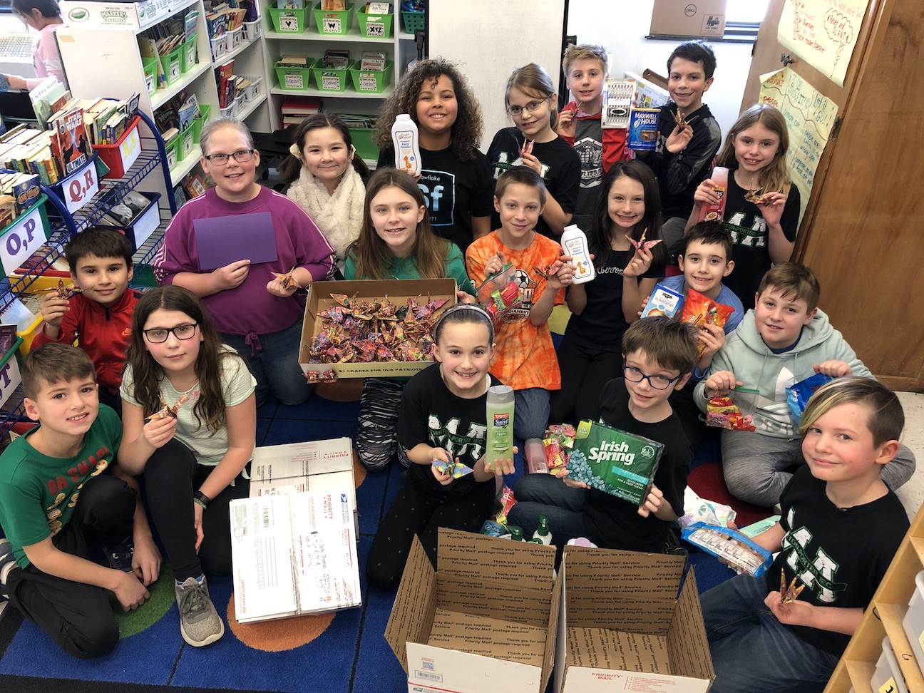 Lewiston-Porter students are participating in the `Peace For Our Patriots` service learning project.