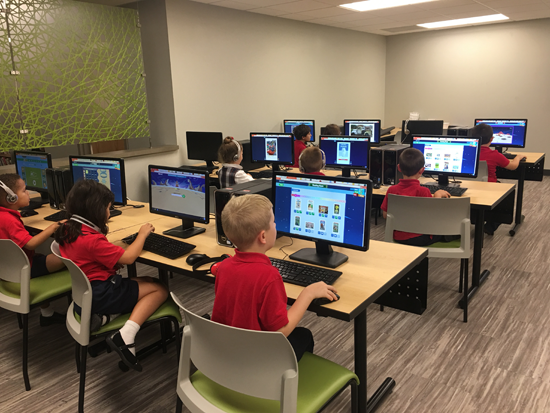 For St. Peter's students, pictured here in the school's state-of-the-art media center, technology is now a part of all classes and curriculums thanks to the school's new STREAM initiative.