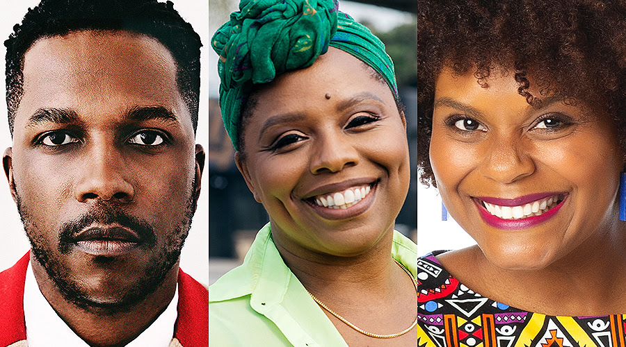 Appearing at this year's UB Distinguished Speakers Series are, from left, Leslie Odom Jr., Patrisse Cullors and Tabitha Brown. (Photos courtesy of University at Buffalo)