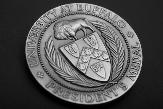 The University at Buffalo President's Medal. (Photograph by Douglas Levere)