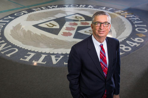 The appointment of A. Scott Weber as the university's second-ranking officer is effective immediately. (Photo by Douglas Levere, University at Buffalo)