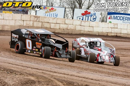 Butch Zimmerman and Bubby Pawlak during 2019 `Test, Tune, and Time.` (Photo by Tom Stevens/courtesy of Ransomville Speedway)