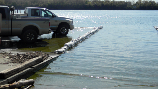 Record-high Lake Ontario waters have also resulted in flooding in the lower river, as seen in this recent photo of the Youngstown boat launch.