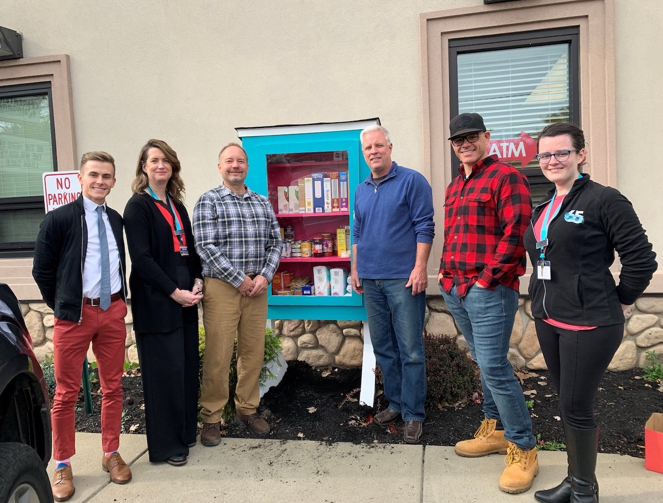 From left, Austin Tylec, Jennifer Grier (Greater Niagara Federal Credit Union), Ed Smolinski, Bob Brennan, Chad Rieselman (Lumber City Church) and Maggie Wilmore (Greater Niagara Federal Credit Union)