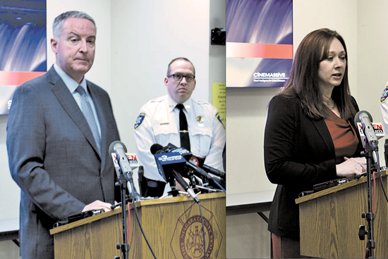 Niagara County Public Health Director Daniel J. Stapleton and Niagara County Legislature Chairperson Becky Wydysh speak out about the county's first confirmed case of COVID-19.