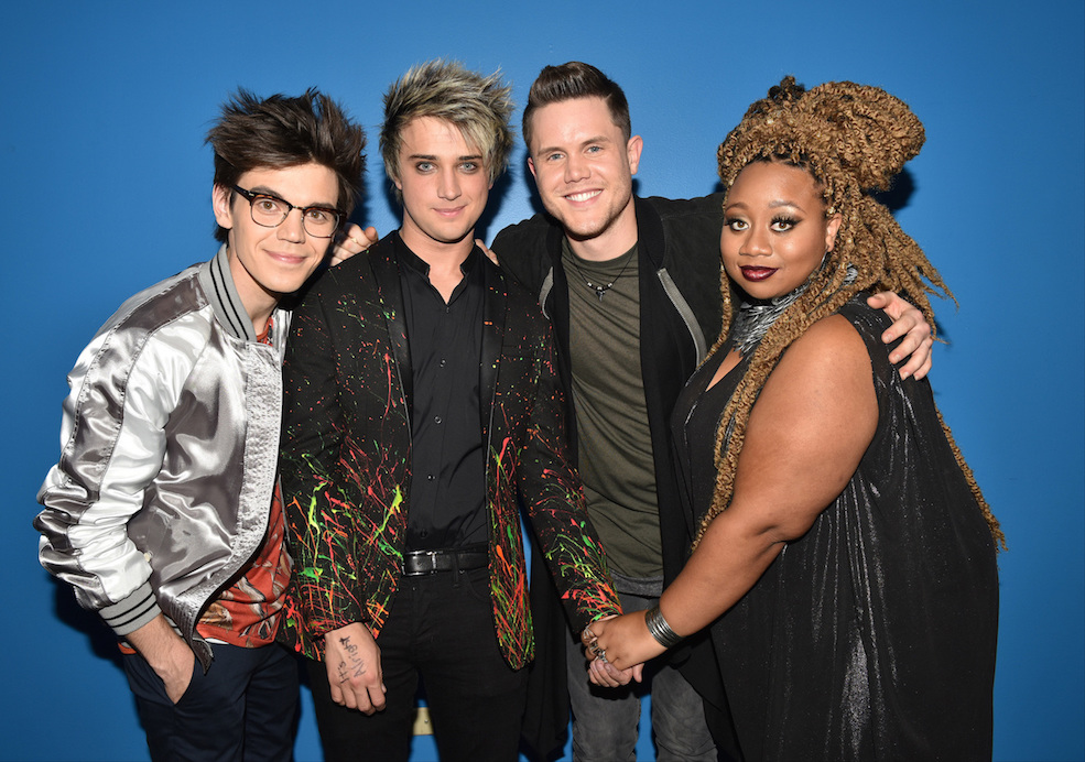`American Idol`: The top four, from left: MacKenzie Bourg, Dalton Rapattoni, Trent Harmon and La'Porsha Renae. (© 2016 FOX Broadcasting Co. photo by Michael Becker)