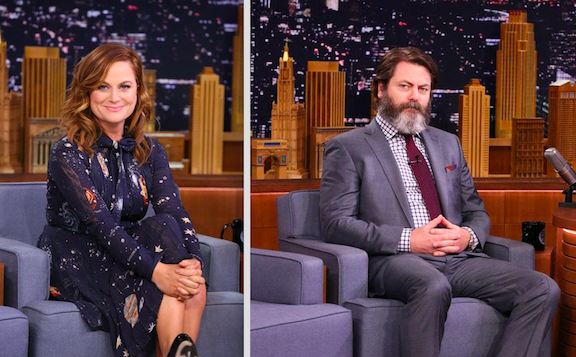 Amy Poehler and Nick Offerman (NBC photos)