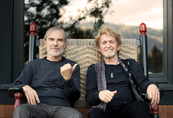 Anderson Ponty Band. Pictured are Jean-Luc Ponty, left, with Jon Anderson. (Publicity photos provide by The Historic Riviera Theatre)