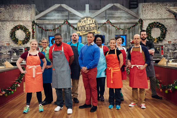 Bobby Dean and the contestants. (Food Network photo)