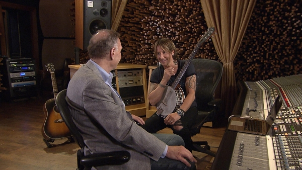 John Blackstone listens to Keith Urban in an interview for `CBS Sunday Morning.` (CBS photos)