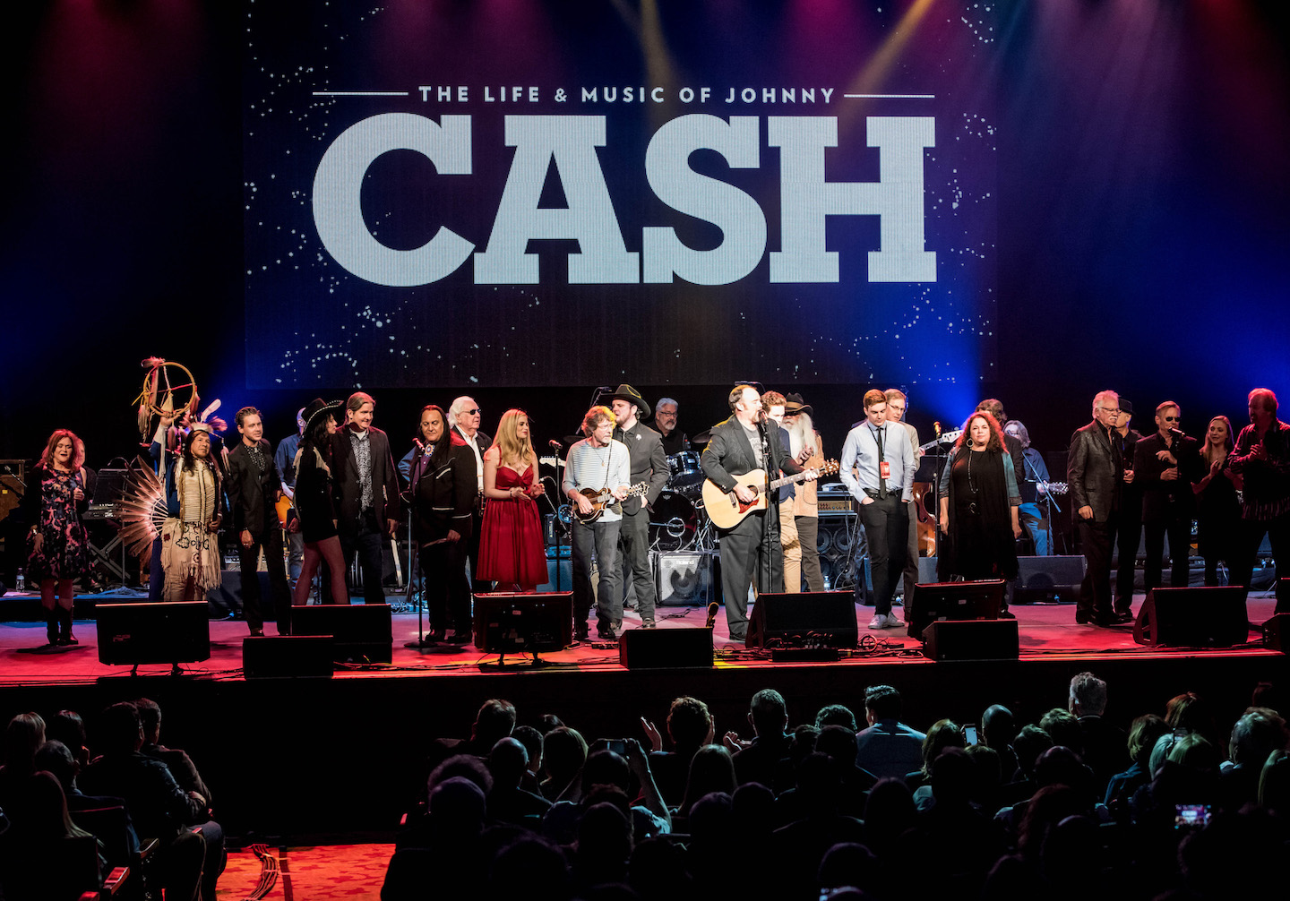 The Johnny Cash tribute. (Photo by Amber Patrick, courtesy of the Rock and Roll Hall of Fame)