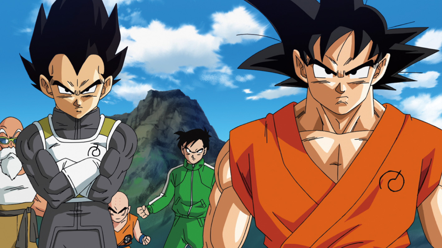 Vegeta and Goku in `Dragon Ball Z: Resurrection 'F' ` (Credit: FUNimation Entertainment)